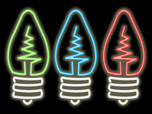 neon light bulbs